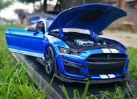 Ford Mustang Shelby GT500 metalic blue Diecast Model Car Maisto 1:18 Scale NEW