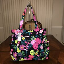 NWT Vera Bradley Pleated Tote in Hilo Meadow