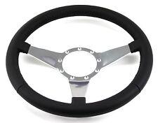 Mustang Steering Wheel Leather Black Flat Spokes 1965 66 67 68 69 70 71 72 73