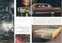 1962 Cadillac  PRINT AD Brown Fleetwood & Gold Eldorado Convertible 2 page