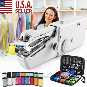 Mini Held Sewing Machine Handheld Electric Stitch Portable Cordless Household