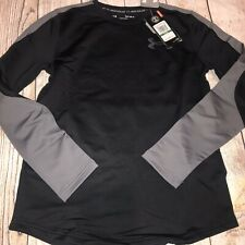 Under Armour Youth Large 14-16 Black Gray Cold Gear Long Sleeve Loose New