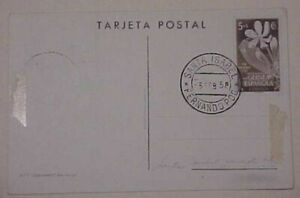SPAIN GUINEA  MAXI CARD BIRD PARROT FERNANDO POO 1958