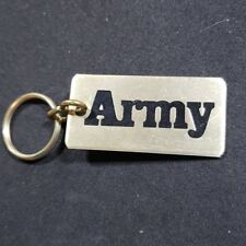 info for 490a3 34c4b Army Sports Branch Inscribed Keychain Goldtone Black Lettering Keyfob