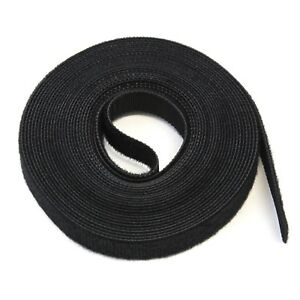 """15FT REUSABLE .5"""" (1/2"""") Roll Hook & Loop Cable Fastening Tape Cord Wraps Straps"""