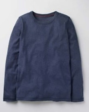 Boys tshirt soft long sleeve top navy MINI BODEN  4 5 11 12 13 14 15 16 years