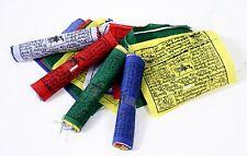 5 ROLLEN JE 10 TIBETISCHE GEBETSFAHNEN 11cm x 10cm NEPAL PRAYER FLAGS HIMALAYA