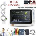 Portable 10' Patient Monitor Vital Signs ICU ECG NIBP RESP TEMP SPO2 PR Machine