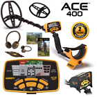 Garrett Ace 400 Metal Detector w/ Submersible Coil and Free Accessory Bundle