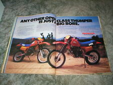 1984 HONDA XR350R & XR500R Cycle ad 2 pages  THUMPER