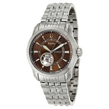 Bulova Automatic Mens Brown Dial  Stainless Steel Watch 96A101