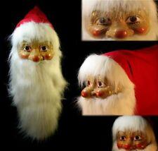 Nikolaus Maske mit Plüschbart und Filzmütze Weihnachten