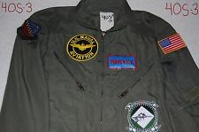 TOP GUN Maverick Pilot Costume Adult medium 40S Navy Air Force Goose Iceman 80s