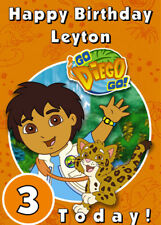 Go Diego Go! tarjeta De Cumpleaños Personalizados-agregar su propio nombre y edad