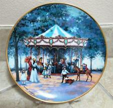 Franklin Mint Heirloom Collector Plate~'Carousel Memories' by Sandi Lebron~Euc