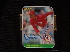 BOB FORSCH 1987 LEAF SIGNED AUTOGRAPHED CARD #161 ST. LOUIS CARDINALS