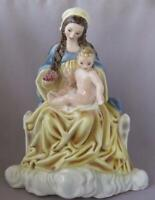 Magnificent Podany Keramos Glass Porcelain MADONNA AND CHILD Wien Austria Vienna
