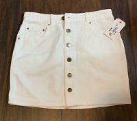 Billabong Good Life White Denim Skirt   Size 28