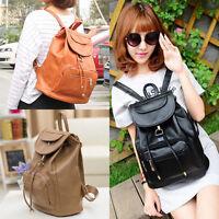 New Women's Backpack Travel PU Leather Handbag Rucksack Shoulder School Bag SY