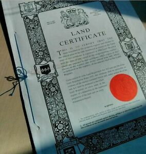 UK BRITAIN ENGLAND 70's ROYAL LAND DEED! 4 MASSIVE 11x16 VELLUM PANELS Rare Find