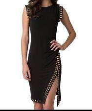 MICHAEL KORS black gold studded dress, size L, MSRP $130