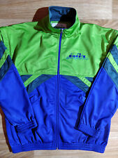 Diadora 90's Vintage Sweatshirt Track Jacket Sleeveless Vest Purple Neon Green