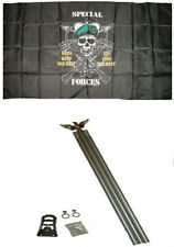 3x5 Special Forces Mess With The Best Flag w 6' Ft Aluminum Flagpole Kit