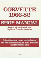 Corvette, 1966-82 : Shop Manual, Paperback, Like New Used, Free P&P in the UK