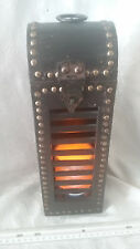 WOOD & BRASS LANTERN BEACH/PIRATE/RUSTIC/COUNTRY DECOR FREE LED CANDLE INCLUDED