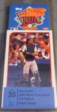 1989 Topps Baseball Talk Set 35, Gary Carter, HANK AARON (final season) *new*