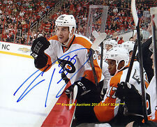 ZAC RINALDO Challenges Hurricanes AUTO Signed 8x10 Photo PHILADELPHIA FLYERS WoW