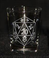 D20 Custom Etched Shot Glass