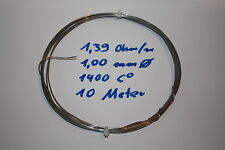 Heating wire Chrome wire Resistance wire 1400 C Furnace Repair 1 mm 1,4 Ohm