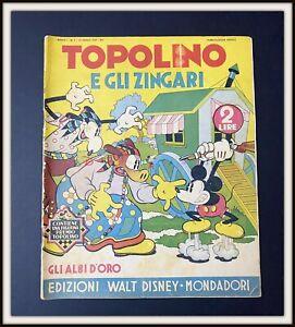 ⭐ Albi d'Oro Anteguerra Disney # 7 TOPOLINO e gli ZINGARI 1937 - DISNEYANA.IT ⭐