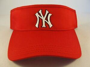 New York Yankees MLB Vintage Adjustable Strap Visor Hat Red