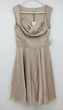 Lindy Bop Octavia Gold Swing Occasion Dress - Womens US 6 - Gold - NWT