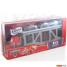 Disney Pixar Cars Mack Transporter with 3 cars Nitroade Bob Cutlas Bumper Save