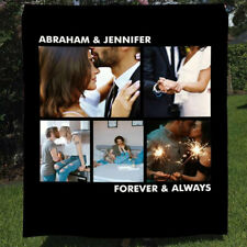 Personalized Couple Photos Quilt Blanket, Anniversary Gift For Him Her