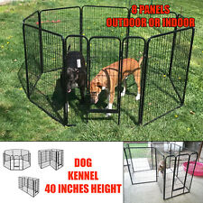 Dog Pen Kennel Extra Large 8 Panel Exercise Playpen 40 Inches Tall with Gate New