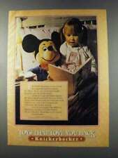 New listing 1981 Knickerbocker Mickey Mouse Plush Toy Ad
