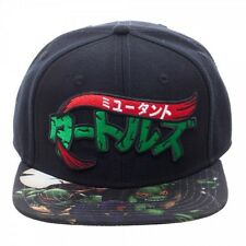 TEENAGE MUTANT NINJA TURTLES MANGA SUBLIMATED FLAT BILL SNAPBACK HAT CAP RETRO