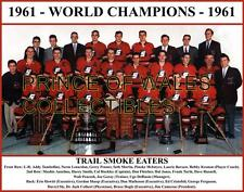 1961 CANADA WORLD CHAMPIONS TEAM PHOTO 8X10