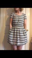 Viscose Regular Size Striped Mini Dresses for Women