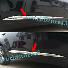 Chrome Body Side Door Molding Cover Trim Garnish For 2014-2017 Toyota Highlander