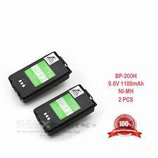 2 x 1100mAh BP-200XL BP-200L Battery for ICOM IC-A5 IC-A23 IC-T8A IC-T81A + CLIP