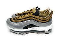 Nike Air Max 97 SE Womens Running Shoes Metallic Silver Gold Black Size 7