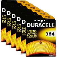6 x Duracell Silver Oxide 364 1.5V batteries watch D364 V364 SR60 SR621SW AG1