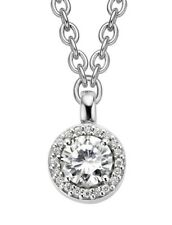 Genuine Ti Sento Sterling Silver CZ set Cluster Pendant on chain 3817ZI £130