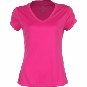 VELOCITY Moisture WICKING Run WORKOUT Yoga FITNESS T SHIRT Top WOMENS size LARGE
