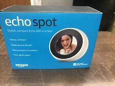 AS IS Flicker Amazon Echo Spot Alexa Smart Alarm Clock Bluetooth Speaker VN94DQA